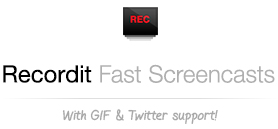Recordit: Record screencasts fast & free! with GIF Support!